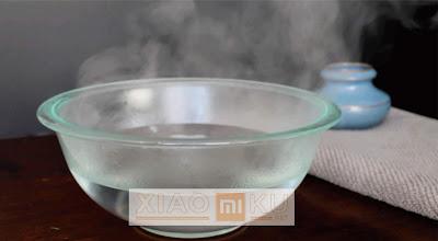 air hangat dan wadah untuk merendam softcase