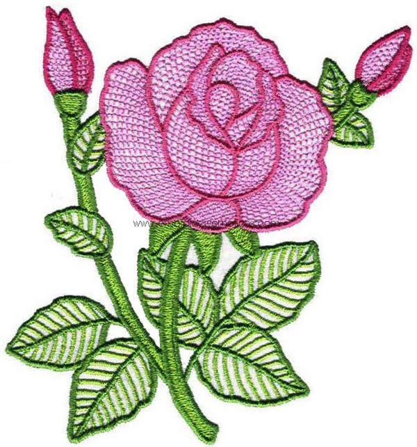Embroidery designs fancy flower