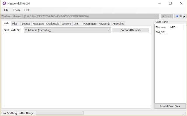 برنامج مجاني لتحليل الشبكة وإظهار نشاط إستخدام الانترنت لجميع الأجهزة NetworkMiner 2.0