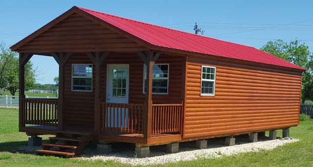 Genial Beautiful Log Cabin 16u0027x40u0027 Portable Building, Hunting Cabin