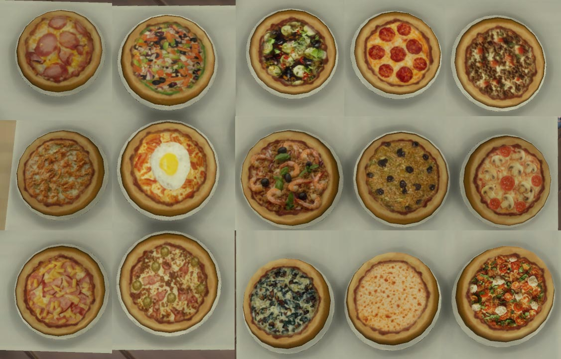 My sims 4 blog 15 mini pizzas for restaurants and home for Customiser cuisine