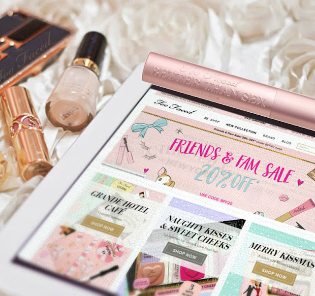 Too Faced Cosmetics Family And Friends 20% Off Promo, By Barbie's Beauty Bits