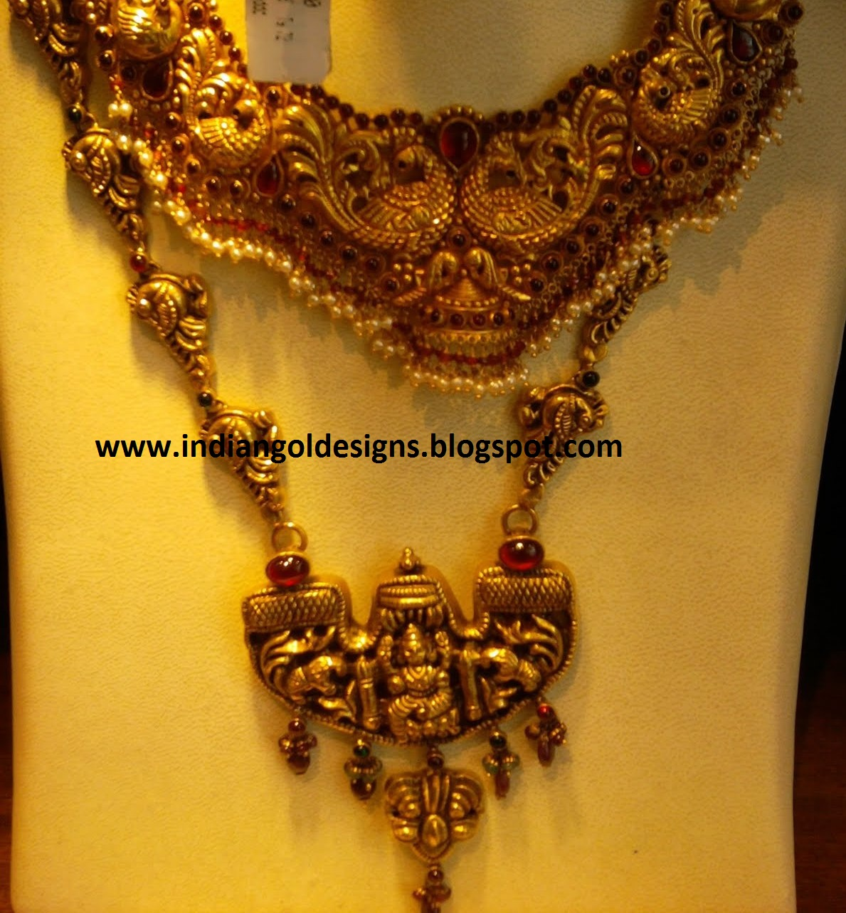 Indiangoldesigns Com Nakshi Lakshmi Devi Temple Jewellery