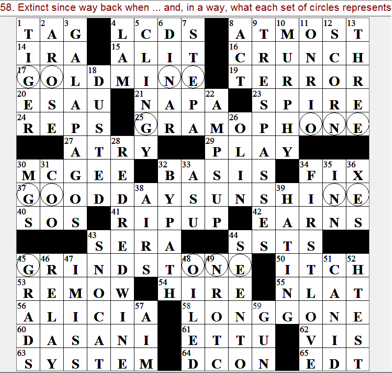 Latimes crossword corner monday october 16 2017 frank virzi argyle spiritdancerdesigns Images