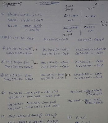 Mathematics handwritten notes For Competitive examination