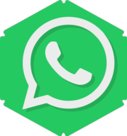 whatsapp hexagon icon