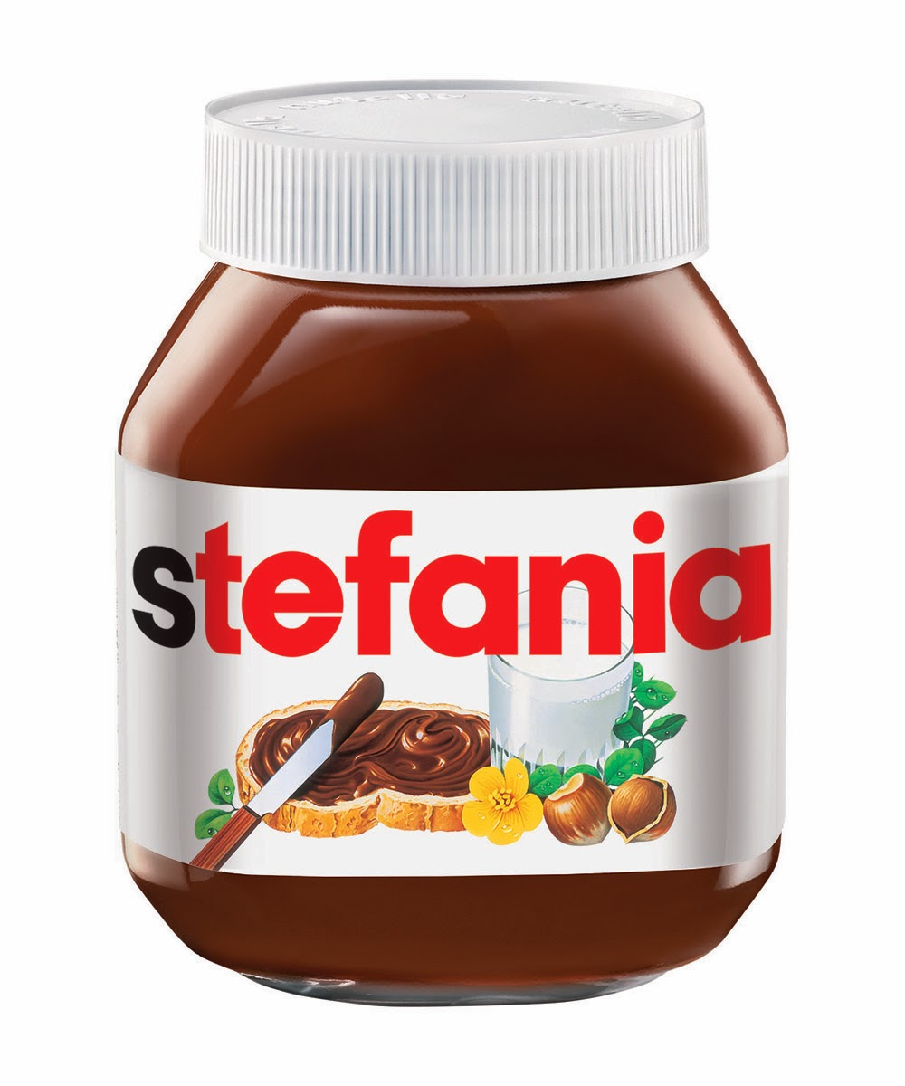 It is a graphic of Satisfactory Mini Nutella Label Template