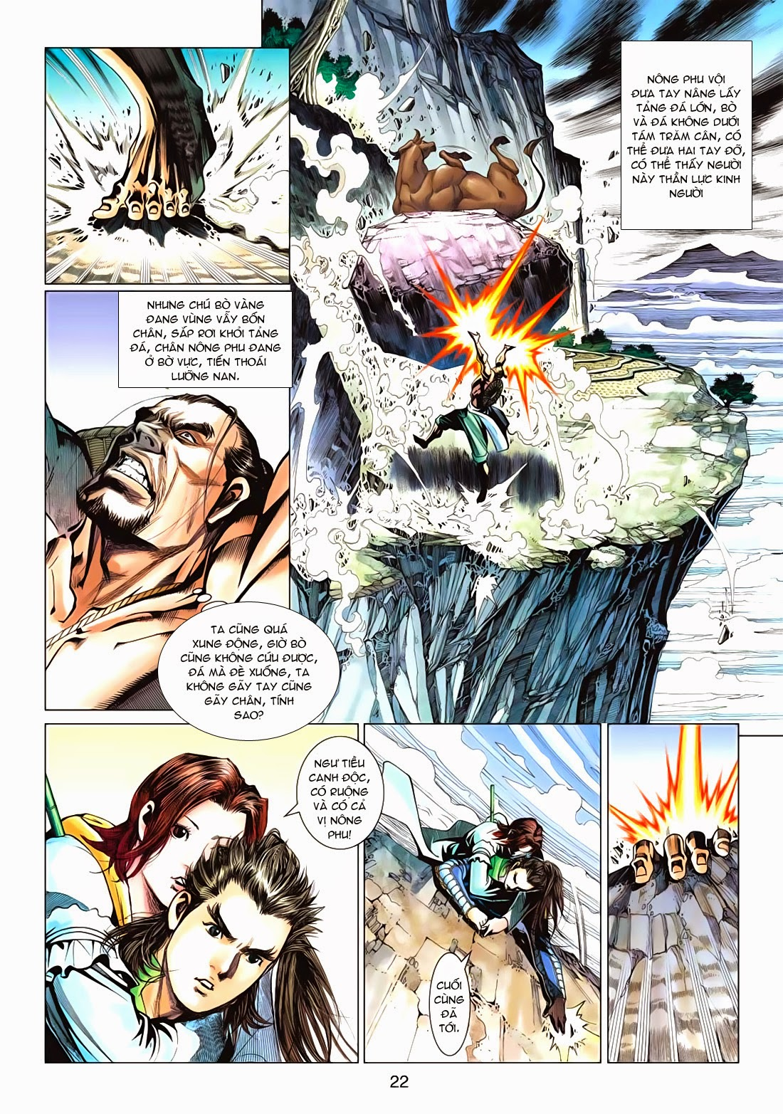 Anh Hùng Xạ Điêu anh hùng xạ đêu chap 72: ngư tiều canh độc trang 22