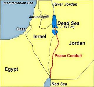 Red sea Dead Sea canal