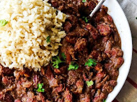 CAJUN-STYLE VEGAN RED BEANS AND RICE