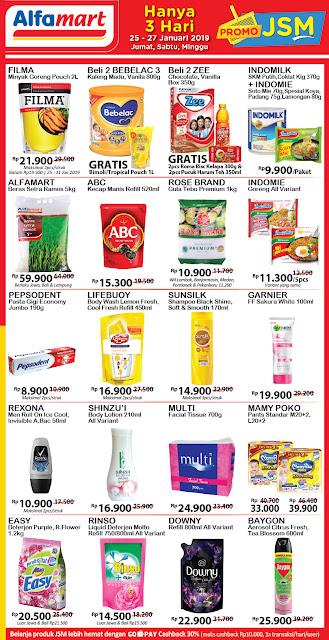 Promo Alfamart JSM (Jum'at Sabtu, Minggu) 25 Januari sampai 27 Januari 2019