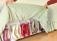 ideas para organizar el calzado debajo de la cama