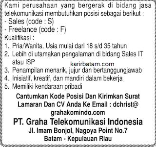 Lowongan Kerja PT. Graha Telekomunikasi Indonesia