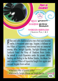 My Little Pony Pony of Shadows Series 5 Trading Card