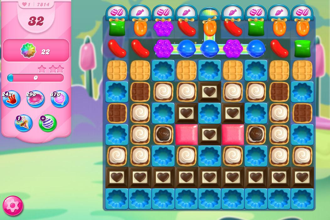Candy Crush Saga level 7814