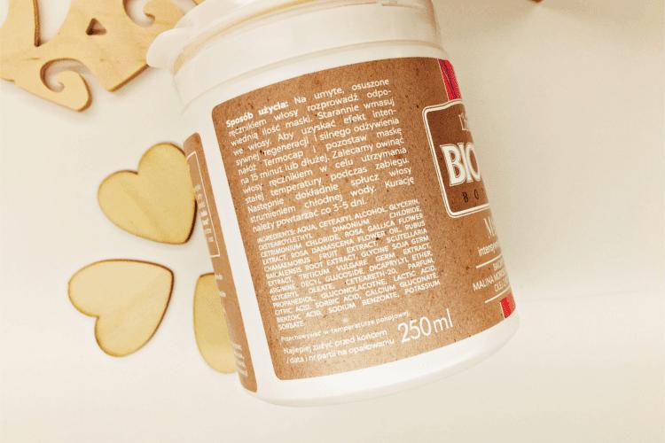 Biovax Botanic Maska intensywnie regenerująca Malina Moroszka i Baicapil