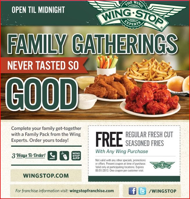 This is an image of Agile Wingstop Printable Menu