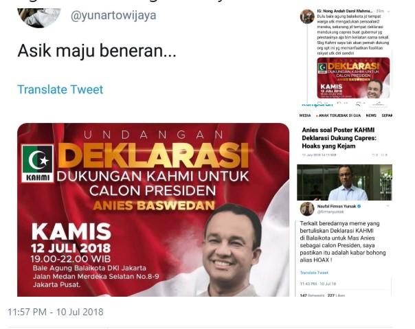 Jadi Korban Hoaks Yunarto Wijaya, Ini Jawaban Telak Anies Baswedan