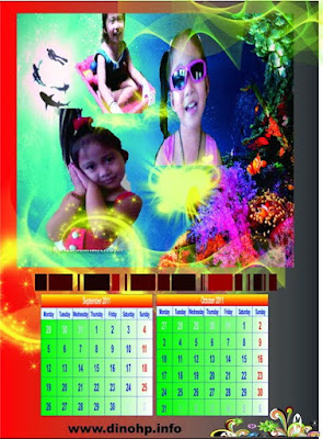 Design examples of calendar 2012 With Family Photos | Design Template 2012 calendar