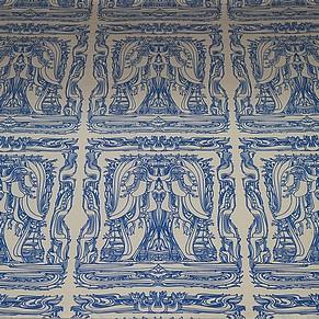 vienna vienne otto wagner villa ernst fuchs museum hütteldorf penzing salon bleu blue parlor