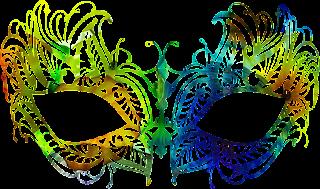 Mascara de carnaval cheia de cor 4 png
