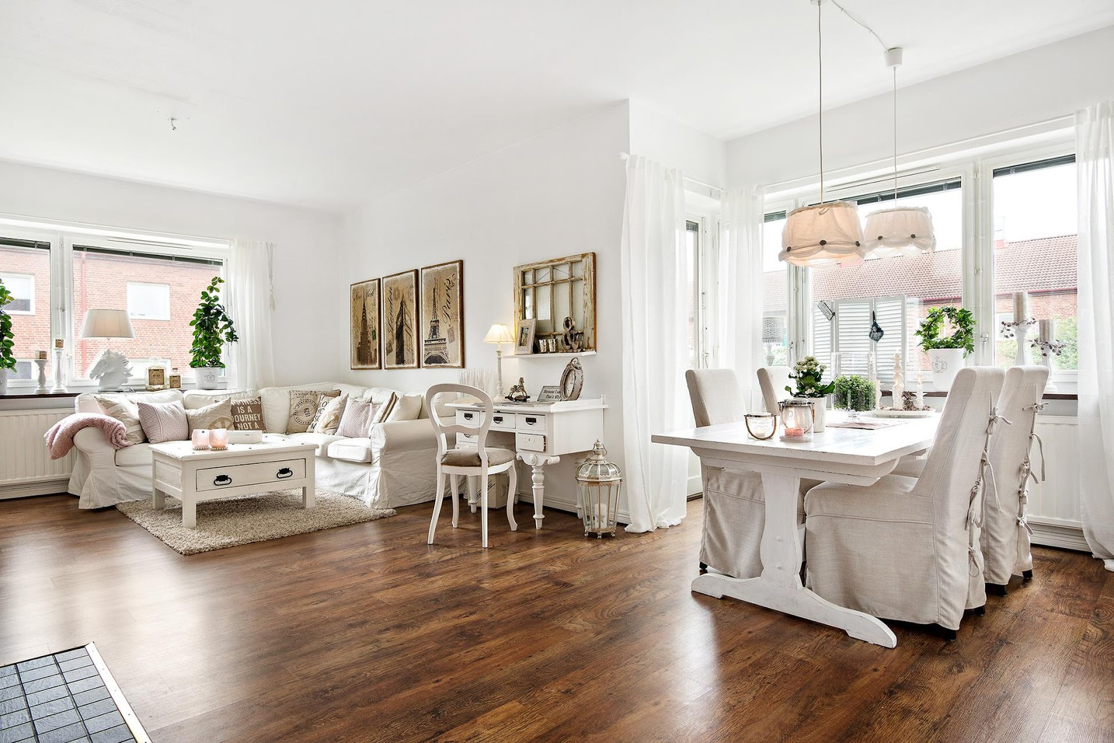 Lovely deco un grand appartement au style shabby chic for Deco appartement chic