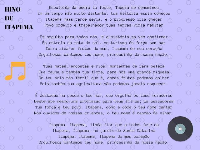hino de itapema