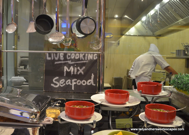 live-cooking station at The Eatery