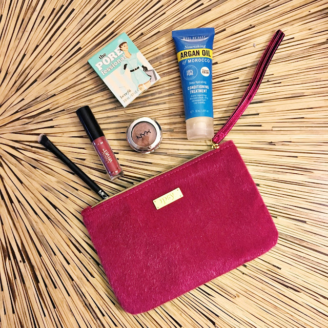 december ipsy glambag 2016 mica beauty angle eyeshadow brush benefit porefessional primer nyx prismatic shadow bedroom eyes ciate london liquid velvet lipstick in pin up