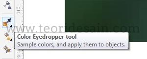 memberi warna pada objek gambar dengan eyedropper tool untuk membuat logo low poly