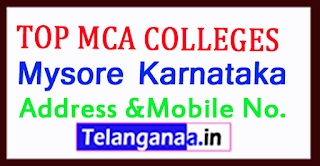 Top MCA Colleges in Mysore Karnataka