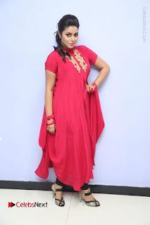 Actress Poorna Latest Stills in Red Dress at Rakshasi First Look Launch  0361.JPG