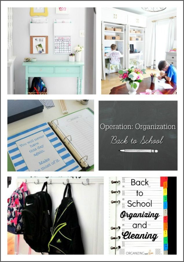Operation Organization: Back to School  :: OrganizingMadeFun.com