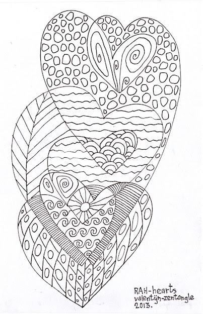 Zentangle Hearts  Mindfulness Activitiesfun Activitiescoloring Sheetsadult  Coloringcoloring Pagesanti Stresssharpiesdoodle Artzentangle