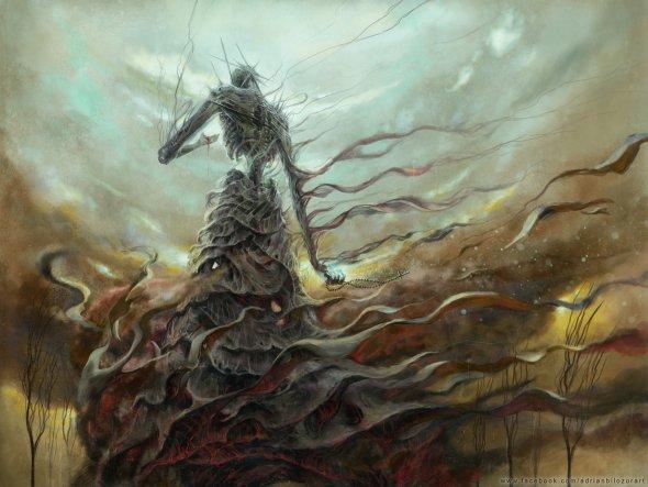 Adrian Biłozór artstation arte ilustrações fantasia terror sombrio inferno surreal