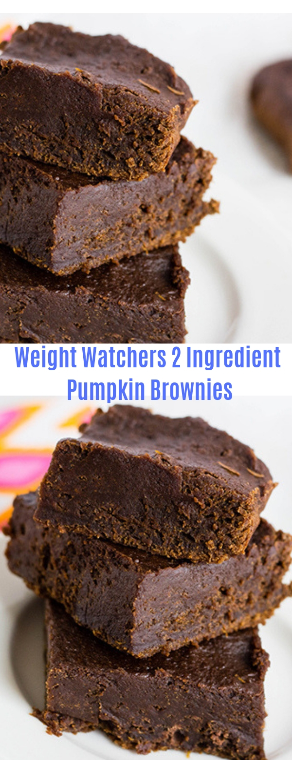 Weight Watchers 2 Ingredient Pumpkin Brownies