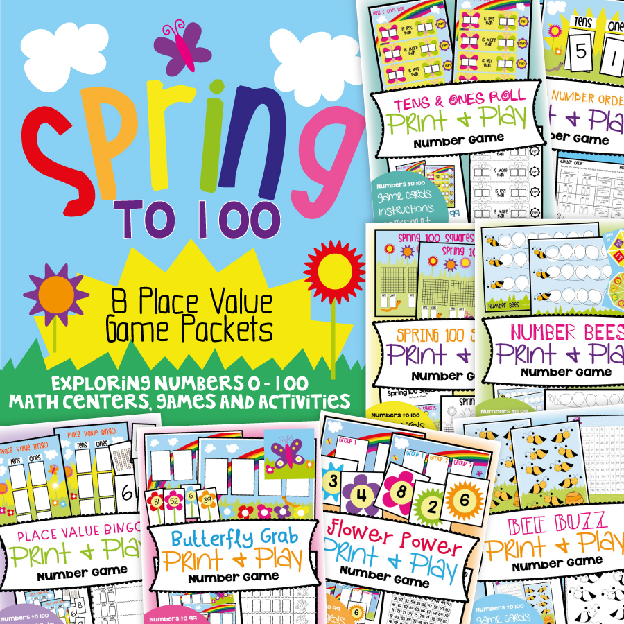 photo regarding Place Value Game Printable named Spring Issue Cost Online games Against the Pond
