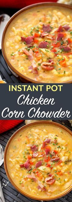 Instant Pot Chicken Corn Chowder Recipe