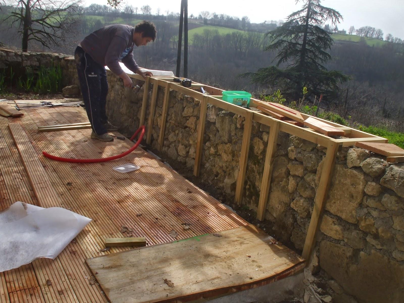 les terrasses de bessou chantier maintenant 19 22 mars 2015 terrasse finie. Black Bedroom Furniture Sets. Home Design Ideas