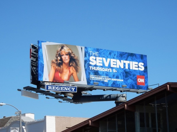 Farah Fawcett Seventies CNN billboard