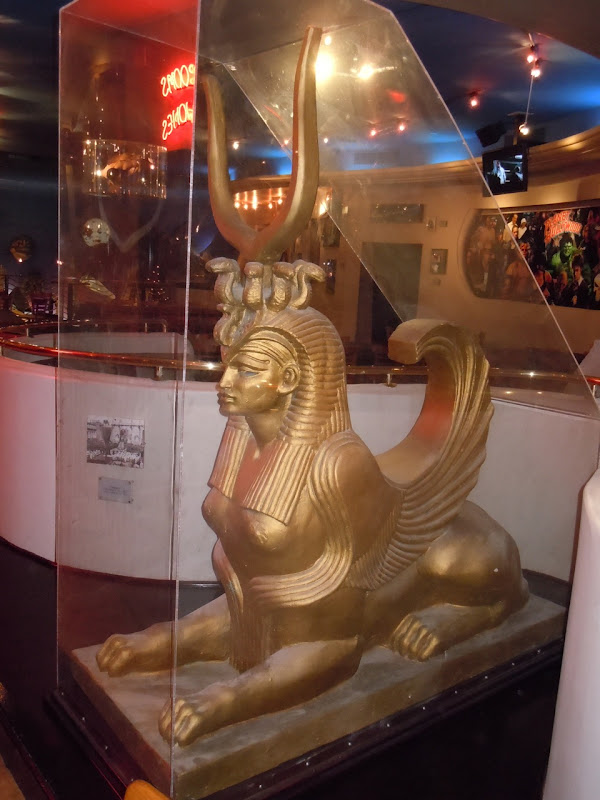 Cleopatra Egyptian sphinx movie prop