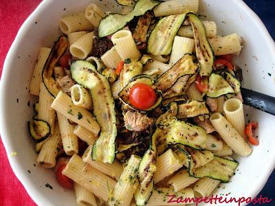 Pasta con zucchine, tonno e pomodorini - Pasta fredda - Piatto freddo