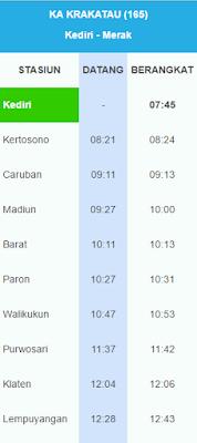 Jadwal Kereta Api Krakatau Terbaru