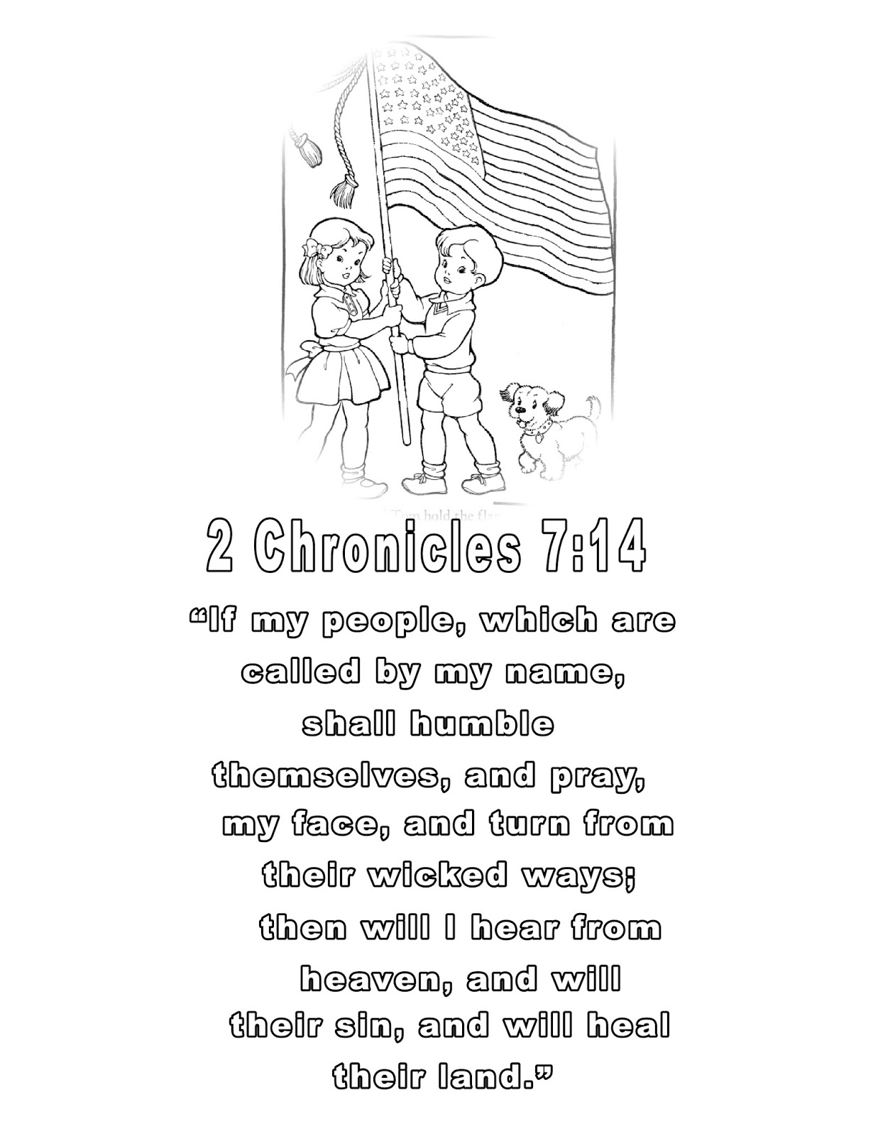 Children's Gems In My Treasure Box: 2 Chronicles 7:14 Coloring