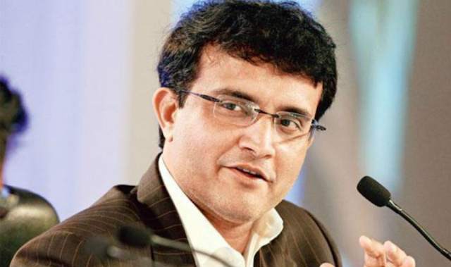 sourav ganguly with mic