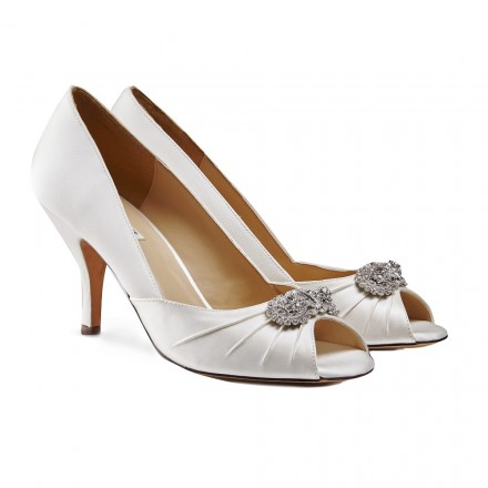 Open Toe Wedding Flats