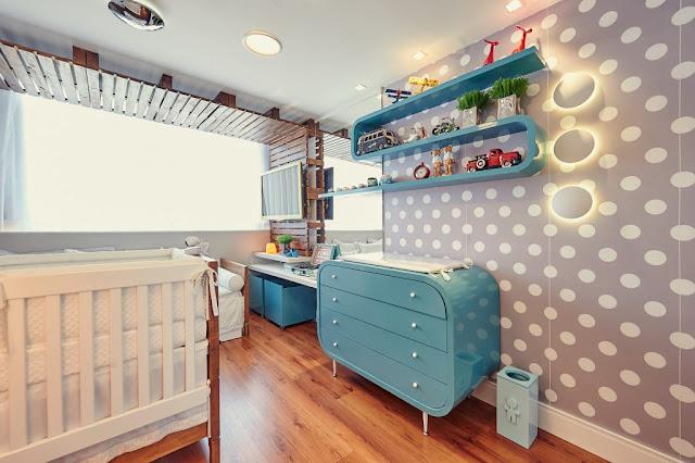 idéias de decoração colorida para quarto de bebe