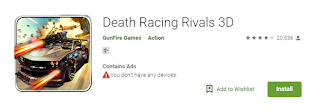 Death Racing Rivals 3D game