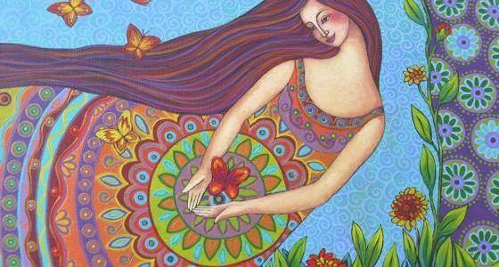 Ilustración libro rituales femeninos para las 4 estaciones