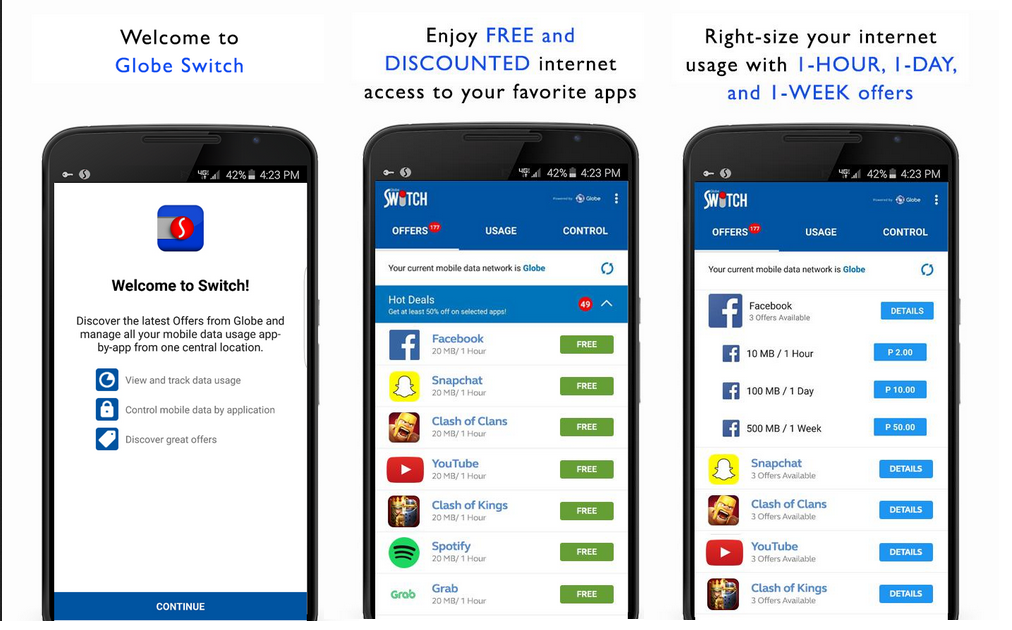 Manage Your Mobile Data Usage With Globe Switch - PhNewsBox